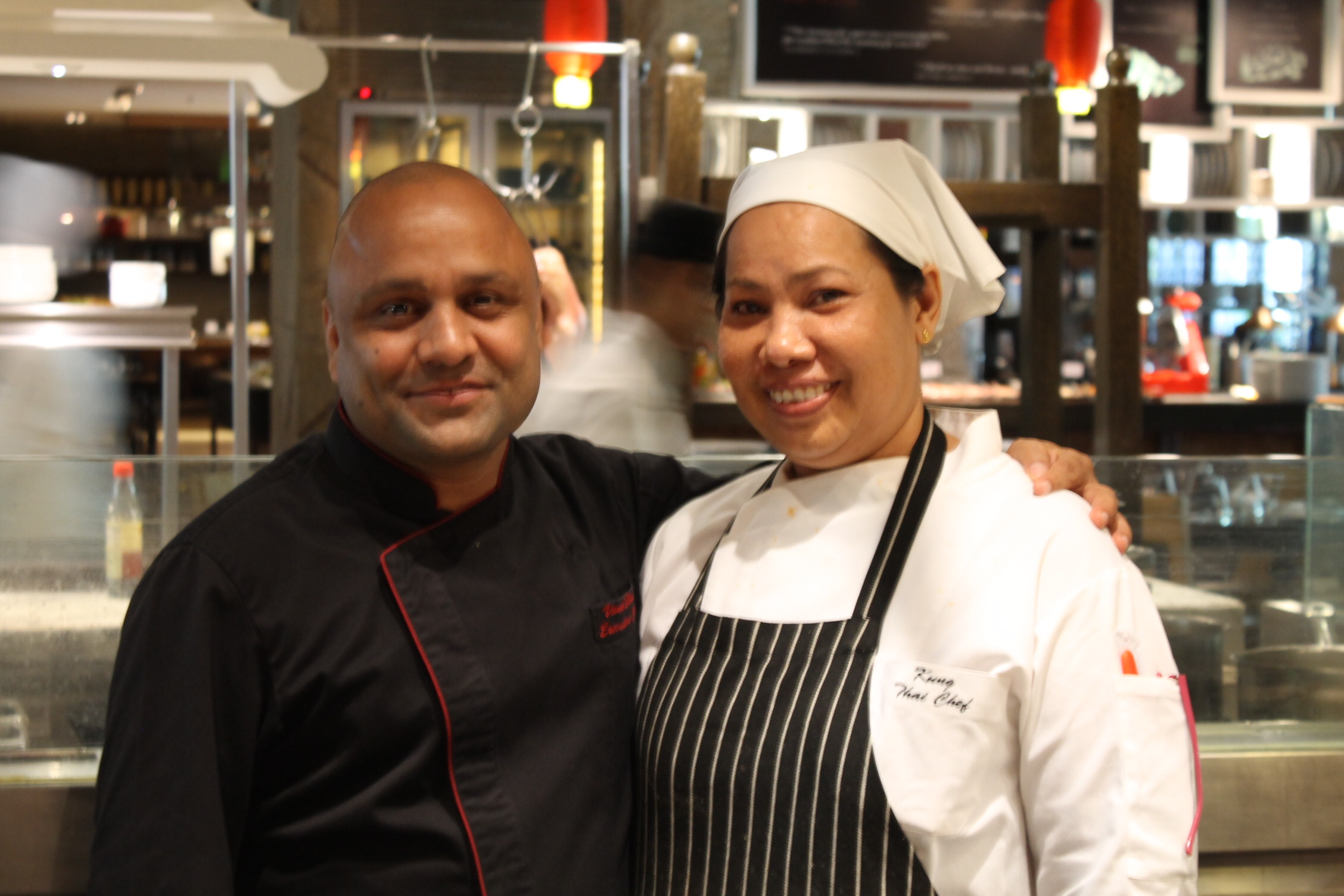Chef Vivek Bhatt (Executive Chef) and Chef Kung (Head Chef)