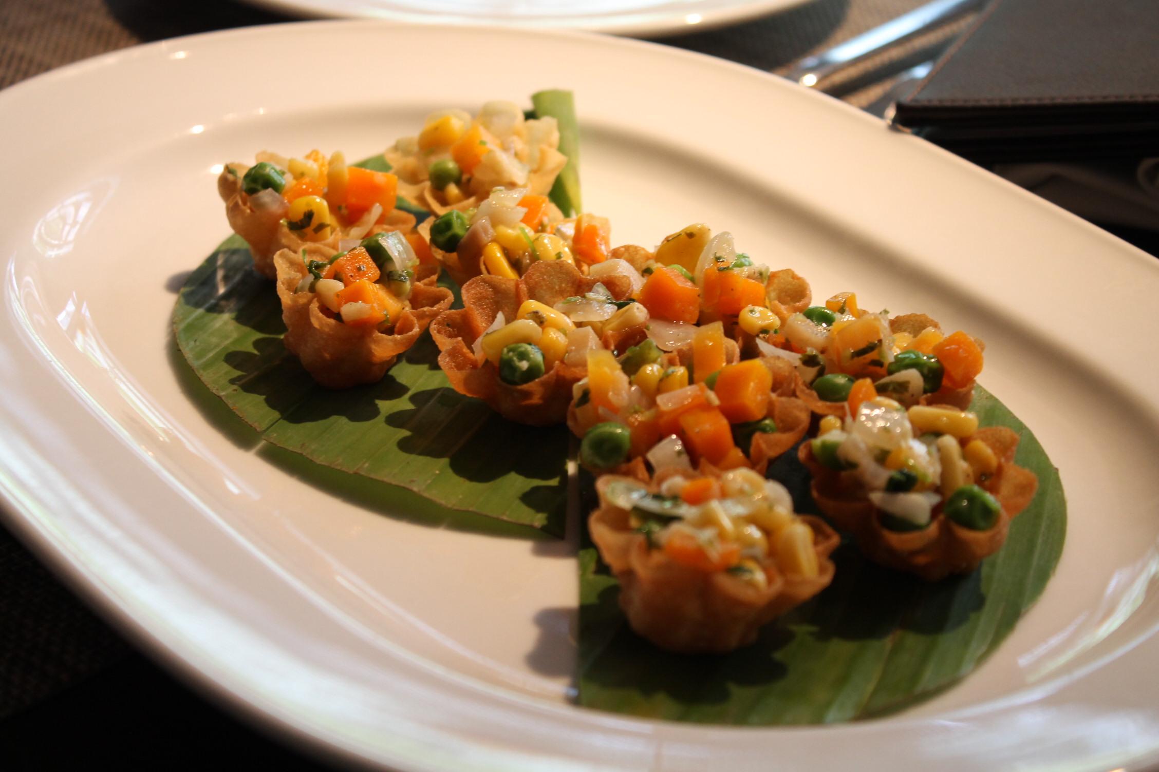 Krathong Thong (Crispy Shell with vegetables